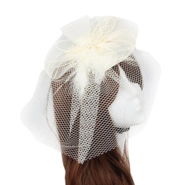 Chinese  Fashion Wedding Fascinator Veil Feather Hard Yarn Headband Hair Accessories manufacturers