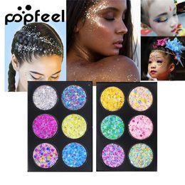 $enCountryForm.capitalKeyWord NZ - Glitter Eyeshadow Palette Colorful 6 Colors POPFEEL Brand Glitter Sequins Best Eye shadow Makeup Palettes Powder