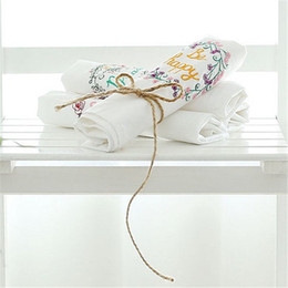 $enCountryForm.capitalKeyWord Australia - 6pcs Leaves Printed Table Napkins for Wedding Party Table Cloth Dinner Napkin Decor Home Textile guardanapos de tecido