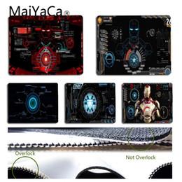 Discount free mouse mats - MaiYaCa New Design Marvel Iron Man Mouse pad PC Computer mat Free Shipping Large Mouse Pad Keyboards Mat