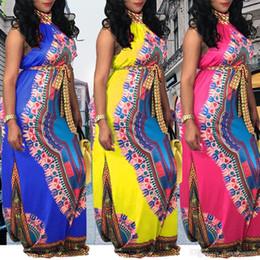 0f960cfd7714 Flora Sexy Dress NZ - African Dresses Women sleeveless retro flora print  maxi dresses Clothing 2018