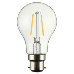 Discount flame light bulbs - B22 2W Pure Warm White LED COB Edison Globle Flame Retro Vintage Filament Light Lamp Bulbs Non Dimmable AC220V
