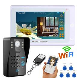 "Discount doorbell intercom system wireless - 7"" Wired   Wireless Wifi RFID Password Video Door Phone Doorbell Intercom System with IR-CUT HD1000TVL Camera Night"