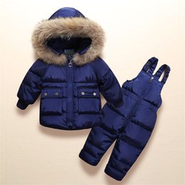 Wholesale TKTWO Winter piece Sets Girls Warm Duck Down Jacket for Baby Clothes Children s Coat for Boy Snow WearKids Suit