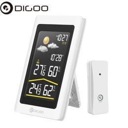 00594d9a6 Digoo DG-TH11300NF Smart Home Pantalla de color HD inalámbrico USB al aire  libre para estación meteorológica VA Glass Higrómetro Termómetro