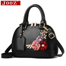 $enCountryForm.capitalKeyWord Canada - JOOZ Women Famous brand designer Luxury leather handbags Women messenger bag Ladies Shoulder bags Shell Floral Crossbody bag D18102906