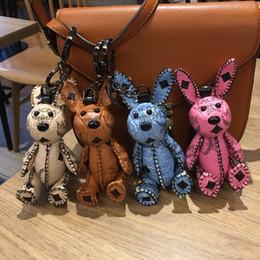 Высокое качество творческий кролик брелок моды для мужчин и женщин автомобиль брелок высокое качество сумочка кулон.