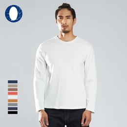 $enCountryForm.capitalKeyWord NZ - Cotton T Shirt Autumn Fashion Round Neck Casual Solid Blank Street Wear Men Long Sleeve Tee Shirt Free Shipping Wholesale