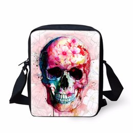 $enCountryForm.capitalKeyWord UK - Noisy Designs 2018 Pink Skull Messenger Bags Men Shoulder Bag Mini Crossbody Bag for Girl Boy Handbags Travel Wholesale