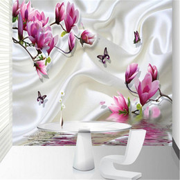 hotel chinese painting NZ - Custom wallpaper photo magnolia covered mural painting for living room bedroom wallpaper hotel meeting room 3d wallpaper