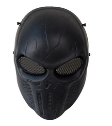 Paintball full face Protective mask online shopping - punisher mask Punisher Army Black Tactical Skull Protective Full Face Mask CS Wargame Paintball Cosplay