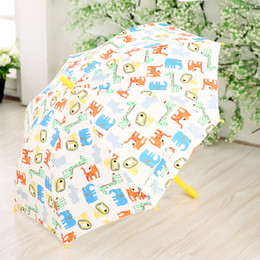 Discount kids cartoon umbrella - Owl Cartoon Printing Children Umbrella Automatic Kids Umbrellas Cute Rain Umbrella Long-handle Rainproof For Student