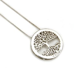 wholesale flower life pendants Canada - Wholesale 12Pcs Vintage Silver Plated Wire Winding Inlay Tree of Life Pendant Statement Necklace(without chain) Free shipping