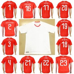 38a4b126f 2018 World Cup Switzerland Soccer Jersey Home Red White Away 10 XHAKA 9  SEFEROVIC 8 FREULER 23 SHAQIRI LANG 7 EMBOLO Football Shirts
