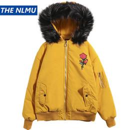 Hooded Winter Parkas For Men NZ - 2018 Winter Hip Hop Parkas Men Women Fur Collar Hooded Jackets and Coats Fashion Rose Parka Jacket For Couple Plus Size 5XL W791