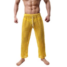 Men See Through Clothes Australia Joggers Home Harem Gay Sex Clothing See Through Sheer Trousers