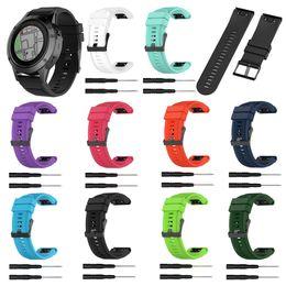 Dragonne en silicone YUEDAER 10Colors pour dragonne Garmin Fenix 5X 3 3HR GPS Quick Release pour accessoire Garmin Fenix 5x en Solde