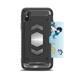 Magnetic card case online shopping - Armor Card Slot TPU PC Case for iPhoneXS MAX XR X Plus Magnetic Back Cover for Samsung Note9 S9Plus J3 J7 OPP Aicoo