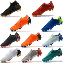 33dc455ed07659 2018 Assassin 12 Mercurial Superfly VI 360 Chaussures de football Elite XII  Pro FG Imperméable Low TOP Chaussures de football de qualité Cales botas