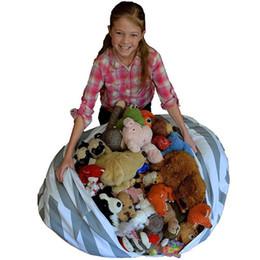 Wholesale Bean Bags Chairs UK - Storage Bean Bags Beanbag Chair Kids Bedroom Stuffed Animal Dolls Organizer Plush Toys Buggy Bags Baby Play Mat