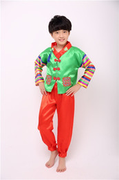 523010cdd Boy Korean Traditional Costumes Children Hanbok Clothing ethnicminority  costumes performance children's dance costumes