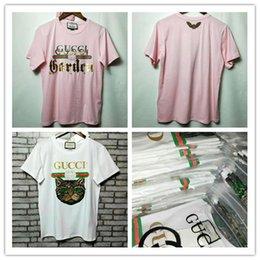c5bacecb552 18ss Cat head sequins Designer Brand Tee High quality printing logo tshirts  cotton t shirts for mens womens Short sleeves ventilate clothing