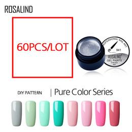 $enCountryForm.capitalKeyWord Australia - wholesale Pure Color Painting Nail Gel Set 60 Colors Can Be Soak Off UV LED Manicure Design Nails Art Gel Nail Polish