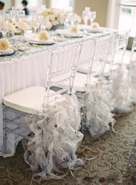 $enCountryForm.capitalKeyWord Australia - 2018 High Quality Ruffles Chair Covers Organza Classic Wedding Chair Sashes New Arrival Bridal Supplies Decorations