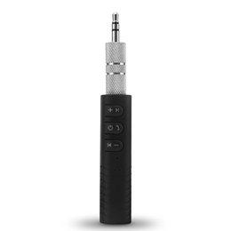 Mini Bluetooth Inalámbrico para Manos Libres de Coche 3.5mm Streaming A2DP Adaptador de Audio AUX Auto Inalámbrico con Micrófono Para Manos Libres