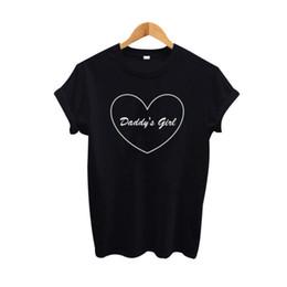 d51eb74e9aba Women s Tee Daddy s Girl Heart Harajuku Graphic Print T Shirt Summer 2017  Hipster T Shirt Women Black Tops Tee Shirt Femme Tumblr Clothing