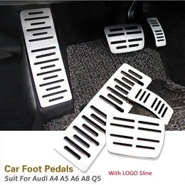 $enCountryForm.capitalKeyWord NZ - 3PCS Set Car Styling High Quality Material Aluminum Accelerator Brake Pedal Foot Rest Pedals with Logo