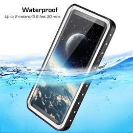 waterproof shockproof dustproof iphone case UK - Full Body Protected Shockproof Cover for iPhone X XS MAX XR , Dustproof Strong Protective Waterproof Case for Samsung Note8 S9 Plus S9 S8