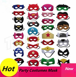 Wholesale New styles Superhero Kids Cartoon Eye Masks Halloween mask Christmas Captain America Wolverine Party Costumes mask for Children GC84