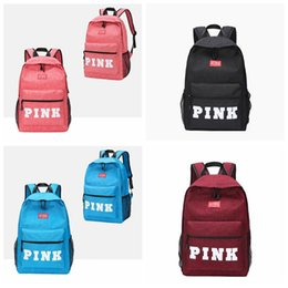 Wholesale 4 Color PINK Letter Backpacks Student Fashion Large Female Travel Backpack For School Bag Outdoor Travel Bags CCA9668