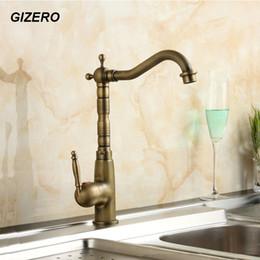 Antique Brass Faucet Kitchen Sink Mixer Swivel Spout Bathroom Basin Tap  Torneira Deck Mounted Grifo ZR103 Antique Bronze Kitchen Faucets Outlet