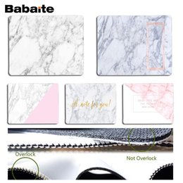 marble games NZ - Babaite Top Quality Marble Stone Pattern MousePads Computer Laptop Anime MouseMat Rubber Mouse Pad Computer Game Tablet Mousepad