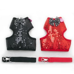 Bow harness online shopping - Fashion Pet Traction Sleeve Adjustable Protective Type Leashes Small Pets Mermaid Sequins Chest Straps With Bow High Grade dg Ww