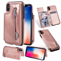 $enCountryForm.capitalKeyWord NZ - For Iphone XR XS MAX X 8 7 6 6S Galaxy S9 S8 Note 9 8 Multifunction ID Card Pocket Wallet Leather Zipper Cash Slot Holder Case Cover Flip