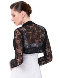 0d45dd914ce 2019Long Sleeve Lace Bolero Wedding Accessories Plus Size Jacket Bridal  Wraps Elegant Wedding Shawl Shrug Accessories