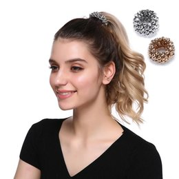 $enCountryForm.capitalKeyWord Australia - MISM Women Imitation Pearl Beads Rhinestone Hairband Elastic Hair Bands For Girls Rope Ponytail Holder Hair Accessories Scrunchy