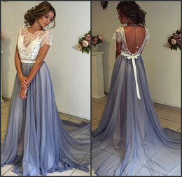 81859acb4 Discount vestidos largos fiesta plus size - Chiffon High Neck Lace  Appliques Royal Blue Mermaid Evening