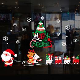 $enCountryForm.capitalKeyWord Australia - Christmas Moon Snowflake Wall Stickers Xmas Decoration For Kids Room Shop Window Decal PVC Wallpaper Hot selling Wholesale 20pcs lot