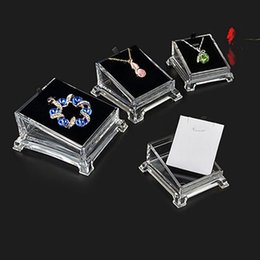Wholesale Jewelry Organizer Stand Clear Acrylic Watch Bracelet Bangle Showing Display Holder Stand Rack Station Jewelry Hard Display
