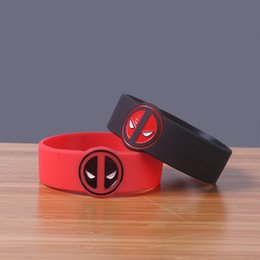 Marvel bracelet online shopping - 30Pcs silicone bracelet Marvel cotton wristband with black and red colors Debossed head angle
