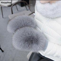 Apparel Accessories Fxfurs High Quality Fox Fur Cuffs Hot Sale Wrist Warmer Genuine Fox Fur Cuff Arm Warmer Lady Bracelet Real Fur Wristband Glove High Safety