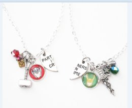 China 6pair lot Thor Loki BFF Necklaces Marvel Comic Inspired Jewelry Friendship Partners in Crime Best Friend necklace cheap partner links suppliers