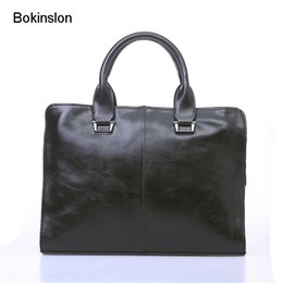 $enCountryForm.capitalKeyWord Canada - Bokinslon Business Bags For Mens PU Leather Popular Man Handbags Bags Reto Fashion Male Brand Hansbags