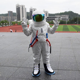 space suits 2019 - 2018 High quality hot Space suit mascot costume Astronaut mascot costume with Backpack glove,shoesFree Shipping discount