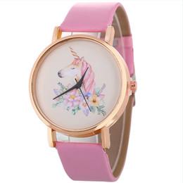 b19f973e9cb Quartz Wrist Watch Fashion Unicorn Women s Watches Ladies Watch Student Clock  Kids Girl New Year Gifts