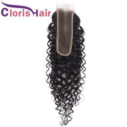 $enCountryForm.capitalKeyWord Australia - Unprocessed Malaysian Virgin Curly Top Closures Piece 2x6 Deep Wave Human Hair Lace Closure Cheap Middle Part Swiss Lace Closure Tangle Free